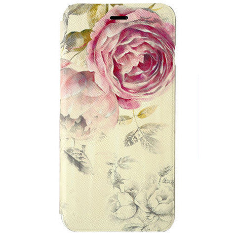 Rose Flower Stand Leather Case for iPhone 6 - BoardwalkBuy
