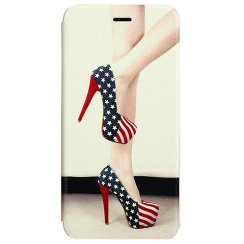 US Flag Shoes Leather Case for iPhone 6 - BoardwalkBuy