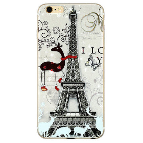 Eiffel Tower Painted TPU Case for iPhone 6 - BoardwalkBuy