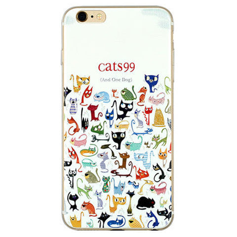 Cartoon Embossed TPU Case for iPhone 6