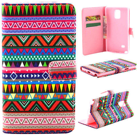 Tribe Pattern Leather Case for Samsung Note 4 - BoardwalkBuy - 1