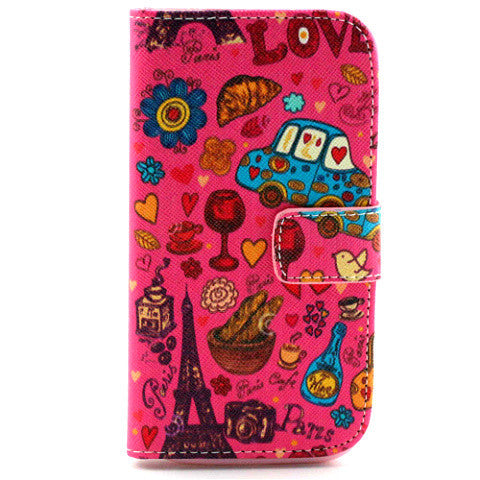 Cartoon Leather Case for Samsung Galaxy S4 - BoardwalkBuy - 1
