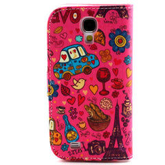 Cartoon Leather Case for Samsung Galaxy S4 - BoardwalkBuy - 2