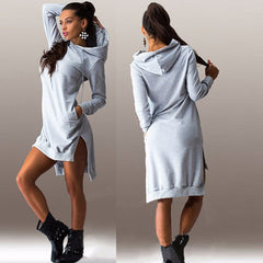 Hoody Sweater Dress - BoardwalkBuy - 4