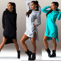 Hoody Sweater Dress - BoardwalkBuy - 1