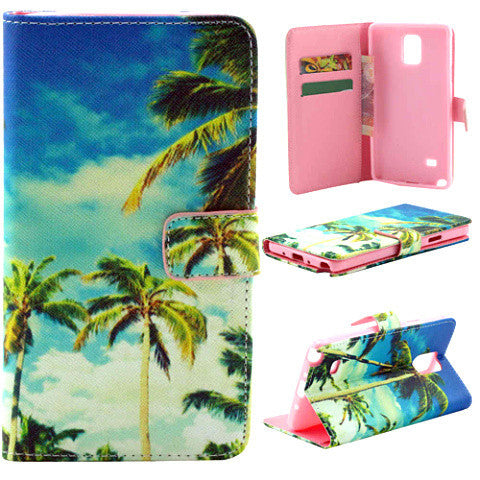 Coco Palm Leather Case for Samsung Note 4 - BoardwalkBuy - 1