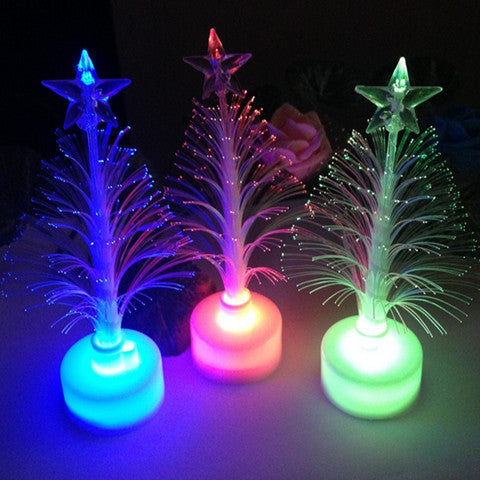 Colorful LED Fiber Optic Nightlight Christmas Tree Lamp Light Children Xmas Gift - BoardwalkBuy - 1