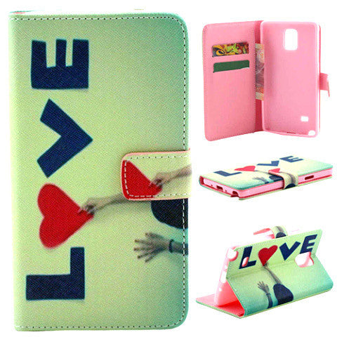 Wallet Leather Case for Samsung Galaxy Note 4