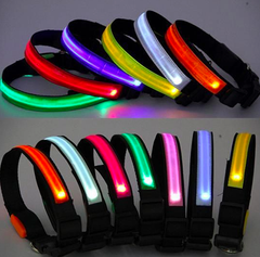 LED Dog Collar - Assorted Colors and Sizes - BoardwalkBuy - 3