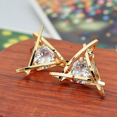 Lady Elegant Triangle Crystal Rhinestone Ear Stud - BoardwalkBuy - 4