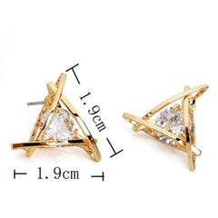 Lady Elegant Triangle Crystal Rhinestone Ear Stud - BoardwalkBuy - 3
