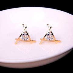 Lady Elegant Triangle Crystal Rhinestone Ear Stud - BoardwalkBuy - 10