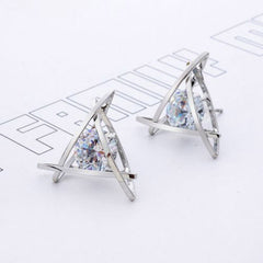 Lady Elegant Triangle Crystal Rhinestone Ear Stud - BoardwalkBuy - 6