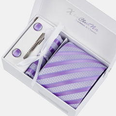 Premium Accessories Gift Box with Tie, Cuff Links, Hankie & Tie Clip - BoardwalkBuy - 5