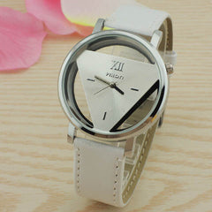 Leather Band Stainless Steel Sport Analog Quartz Wrist Watch - BoardwalkBuy - 4