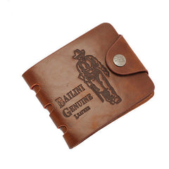 Leather hunter folding Men Wallet - BoardwalkBuy - 1
