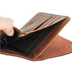Leather hunter folding Men Wallet - BoardwalkBuy - 6