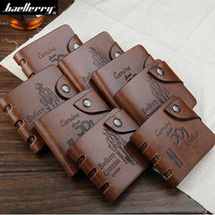 Leather hunter folding Men Wallet - BoardwalkBuy - 11