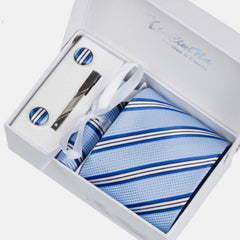 Premium Accessories Gift Box with Tie, Cuff Links, Hankie & Tie Clip - BoardwalkBuy - 7