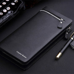 Long Zipper Leather Men Wallet - BoardwalkBuy - 7
