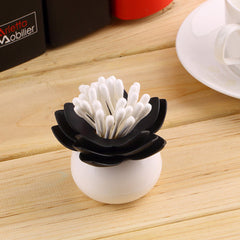 Lotus Shape Cotton Swab Box - BoardwalkBuy - 2