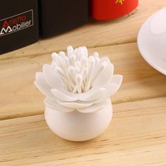 Lotus Shape Cotton Swab Box - BoardwalkBuy - 3