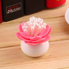 Lotus Shape Cotton Swab Box - BoardwalkBuy - 4