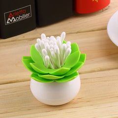 Lotus Shape Cotton Swab Box - BoardwalkBuy - 5