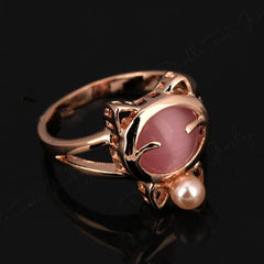 Rose Gold Cat Ring