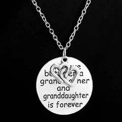 Love Between Grandmother And Granddaughter Double Heart Necklace - BoardwalkBuy - 2