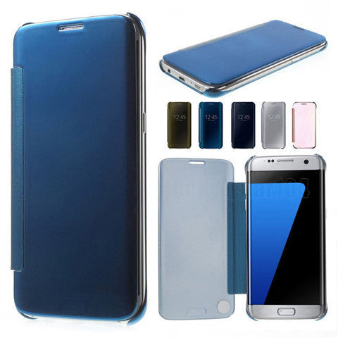 Slim Clear-View Flip Mirror Leather Case For Samysung Galaxy S6/S6 Edge/S6 Edge Plus - BoardwalkBuy - 1