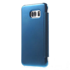 Slim Clear-View Flip Mirror Leather Case For Samysung Galaxy S6/S6 Edge/S6 Edge Plus - BoardwalkBuy - 8