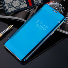 Slim Clear-View Flip Mirror Leather Case For Samysung Galaxy S6/S6 Edge/S6 Edge Plus - BoardwalkBuy - 6