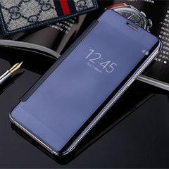 Slim Clear-View Flip Mirror Leather Case For Samysung Galaxy S6/S6 Edge/S6 Edge Plus - BoardwalkBuy - 5
