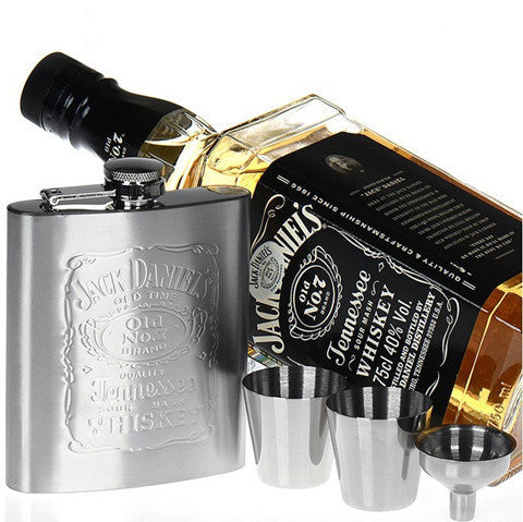 Luxury Jd Hip Flask 7Oz Set Portable Stainless Steel Flagon