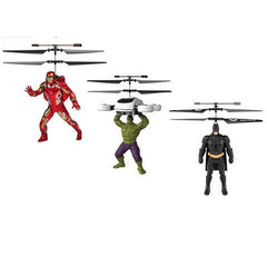 Marvel or DC Comics Flying Figure Feel Control Helicopter - BoardwalkBuy - 1