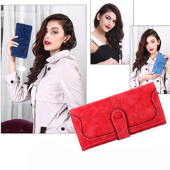 Matte Stitching Wallet Handbag - BoardwalkBuy - 3