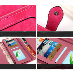 Matte Stitching Wallet Handbag - BoardwalkBuy - 9