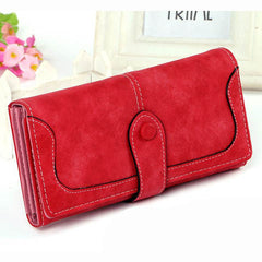 Matte Stitching Wallet Handbag - BoardwalkBuy - 4