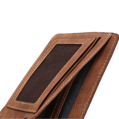 Matte  leather male short wallet - BoardwalkBuy - 4