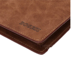 Matte  leather male short wallet - BoardwalkBuy - 6