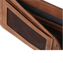 Matte  leather male short wallet - BoardwalkBuy - 7