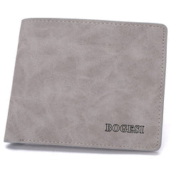 Matte  leather male short wallet - BoardwalkBuy - 5