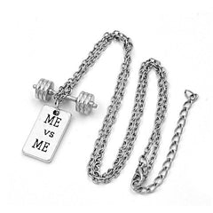 Me vs Me Barbell Necklace - BoardwalkBuy - 1
