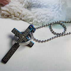 Men Prayer Cross Stainless Steel Necklace - BoardwalkBuy - 3