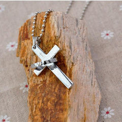 Men Prayer Cross Stainless Steel Necklace - BoardwalkBuy - 4
