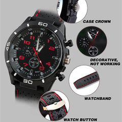 Men Sport String Silicone Band Watch - BoardwalkBuy - 9