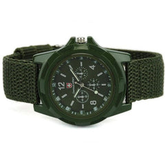 Mens Canvas Belt Luminous Wrist Watch - BoardwalkBuy - 3