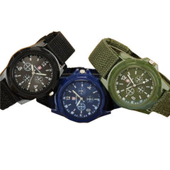 Mens Canvas Belt Luminous Wrist Watch - BoardwalkBuy - 4