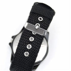 Mens Canvas Belt Luminous Wrist Watch - BoardwalkBuy - 6
